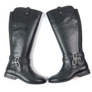 MARC FISHER Audrey riding boot 5.5 wide calf black